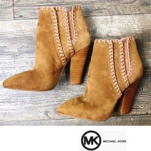 Michael Kors Presley Whipstitched Suede Boot, SZ 7